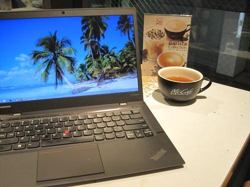 ThinkPad X1 Carbon McCafe マックカフェ レビュー 使ってみた 購入した