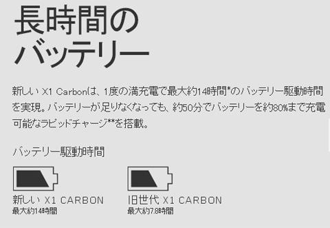 thinkpadx1carbon ラピッドチャージ 急速充電 NewThinkPadX1Carbon  Ultrabook