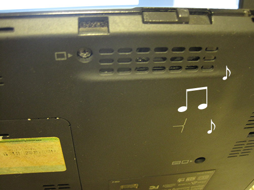 X1 Carbonの代替え機として借りたX200s。こう言っては、なんですが音が悪い